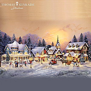 "Thomas Kinkade's Illuminated ""Village Christmas"" Collection"