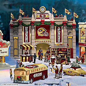 San Francisco 49ers Illuminated Christmas Village Collection