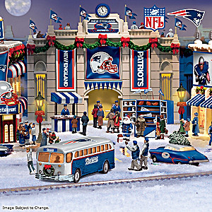 New England Patriots Illuminated Holiday Village Collection