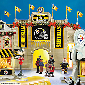 Pittsburgh Steelers Illuminated Christmas Village Collection