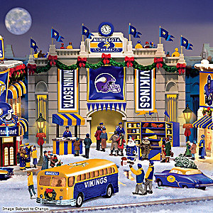 Minnesota Vikings Illuminated Christmas Village Collection