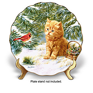 """Purr-fect Companions"" Kitten Art Collector Plate Collection"