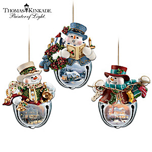 "Thomas Kinkade ""Snow-Bell Holidays"" Ornament Collection"
