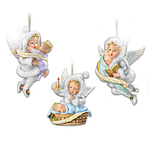Snow Wonder Angels Ornament Collection: Sets Of 3