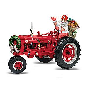 Farmall Tractor Figurine Collection with Santa