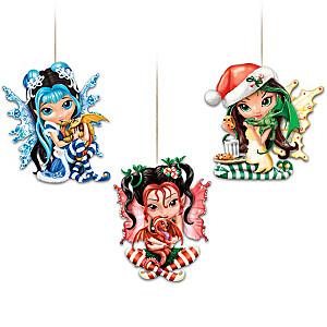 Jasmine Becket-Griffith Fairy And Dragon Ornaments