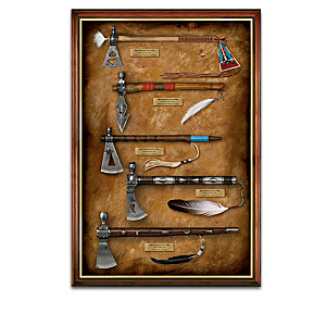 Half-Scale Replica Pipe Tomahawk Collection With Display