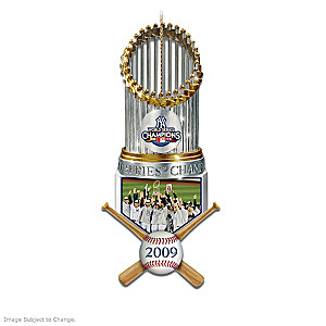 New York Yankees Replica World Series Trophy Ornaments