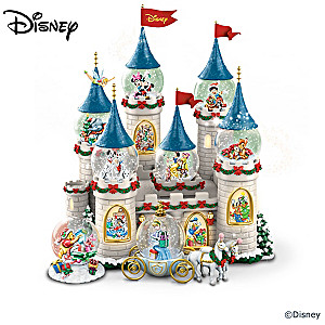 8 Disney Christmas Snowglobes With Lights And Music