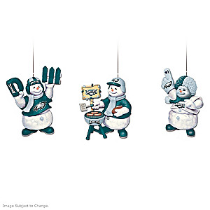 Officially Licensed Philadelphia Eagles Snowmen Ornaments
