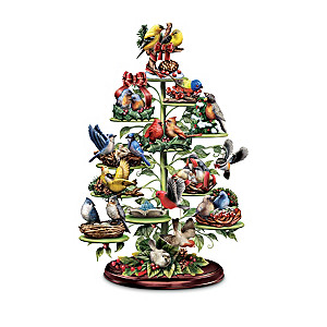 Songbird Figurine Collection With Musical Tabletop Tree