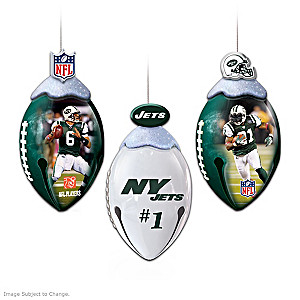NFL Licensed New York Jets Jingle Bell Ornaments