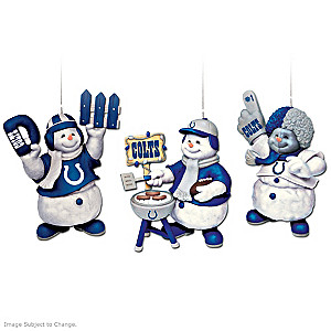 Officially Licensed Indianapolis Colts Snowmen Ornaments