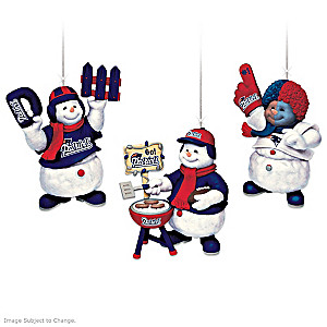 Officially Licensed New England Patriots Snowmen Ornaments