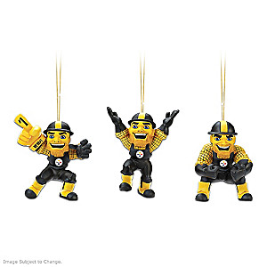 Officially Licensed Pittsburgh Steelers Mascot Ornaments