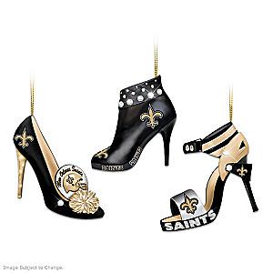 New Orleans Saints High Heel Shoe Ornament Collection