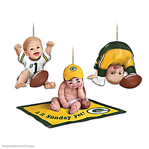 Green Bay Packers Fan Baby Ornament Collection