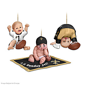 New Orleans Saints Fan Baby Ornament Collection