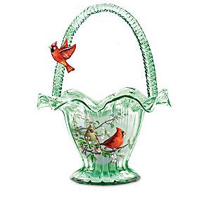 James Hautman Songbird Art Hand-Blown Glass Bowl Collection