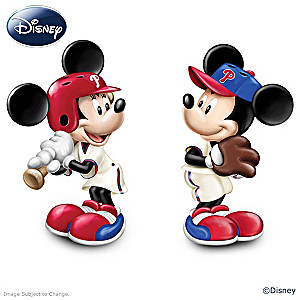 Disney Mickey And Minnie Phillies Salt And Pepper Shakers