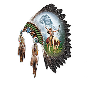 """Spirits Of The Warrior"" Headdress Wall Decor Collection"