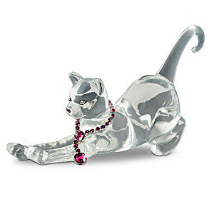Genuine Crystal Cat Figurines With Swarovski Crystals
