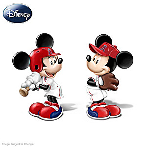 Mickey And Minnie Angels Salt And Pepper Shakers