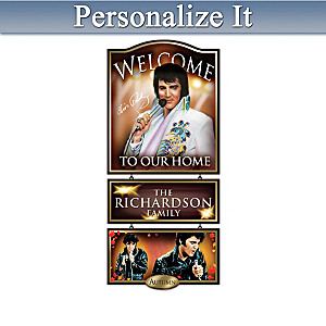 Personalized Elvis Presley Portrait Art Welcome Sign