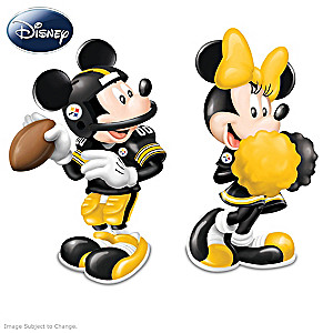 Mickey And Minnie Steelers Salt And Pepper Shakers