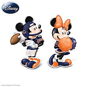 Mickey And Minnie Chicago Bears Salt And Pepper Shakers