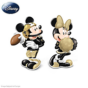 Mickey And Minnie New Orleans Saints Salt And Pepper Shakers