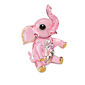 Breast Cancer Awareness Crystal Animal Figurine Collection