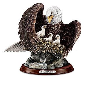 """Noble Guardians"" Lifelike Eagle Family Sculpture Collection"