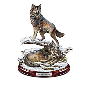 """Protectors Of The Pack"" Wolf Sculpture Collection"