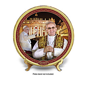 Pope Francis Commemorative Porcelain Plate Collection