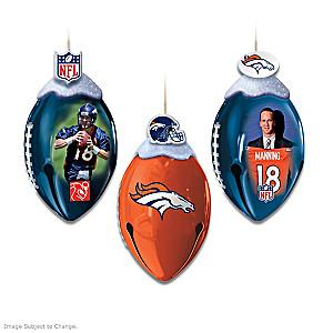 NFL Licensed Denver Broncos Jingle Bell Ornaments
