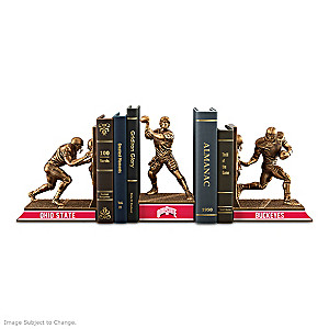 Ohio State Buckeyes Sculptural Bookends In Cold-Cast Bronze