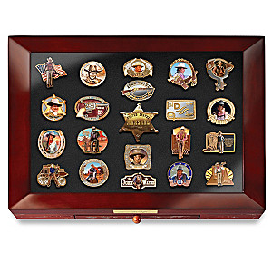 John Wayne Tribute Enameled Pin Collection With Display