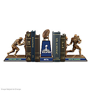 Seattle Seahawks Super Bowl XLVIII Cold-Cast Bronze Bookends