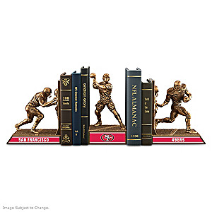 San Francisco 49ers Sculptural Bookends In Cold-Cast Bronze