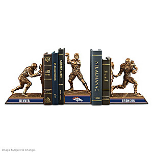 Denver Broncos Sculptural Bookends In Cold-Cast Bronze