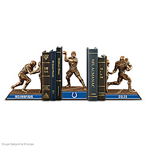 Indianapolis Colts Sculptural Bookends In Cold-Cast Bronze