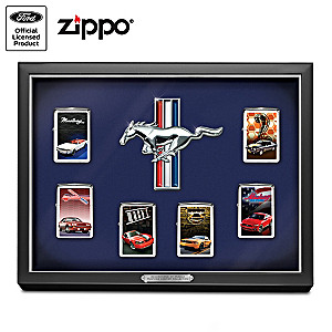 Ford Mustang Art Zippo® Lighter Collection With Display