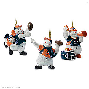 Officially Licensed Denver Broncos Snowman Ornaments