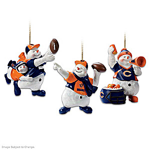 Officially Licensed Chicago Bears Snowman Ornaments