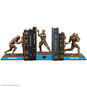 Carolina Panthers Sculptural Bookends In Cold-Cast Bronze