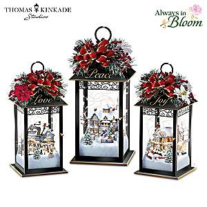 Thomas Kinkade Sparkle Of The Season Lantern Table