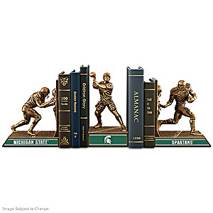 Michigan State Spartans Sculptural Cold-Cast Bronze Bookends