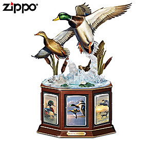Hautman Brothers Duck Art Zippo® Collection With Duck Display