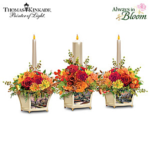 Thomas Kinkade Lighted Autumn Candle Centerpiece Collection